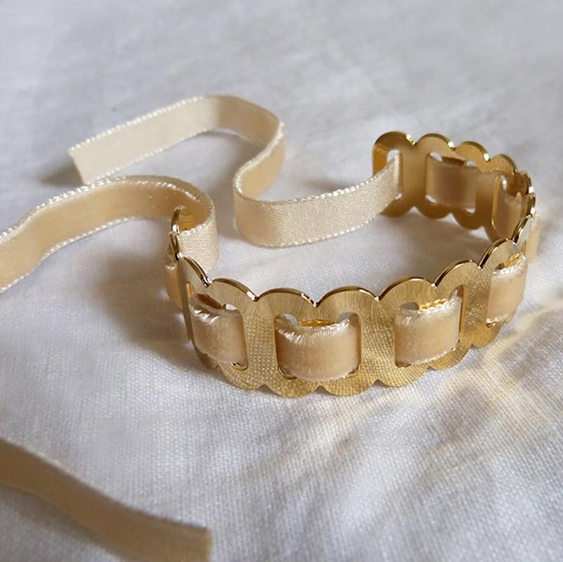 Bracelet Ovale Velours Lin 1
