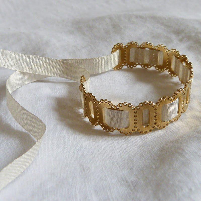 Bracelet Ovale dentelle Ruban 1