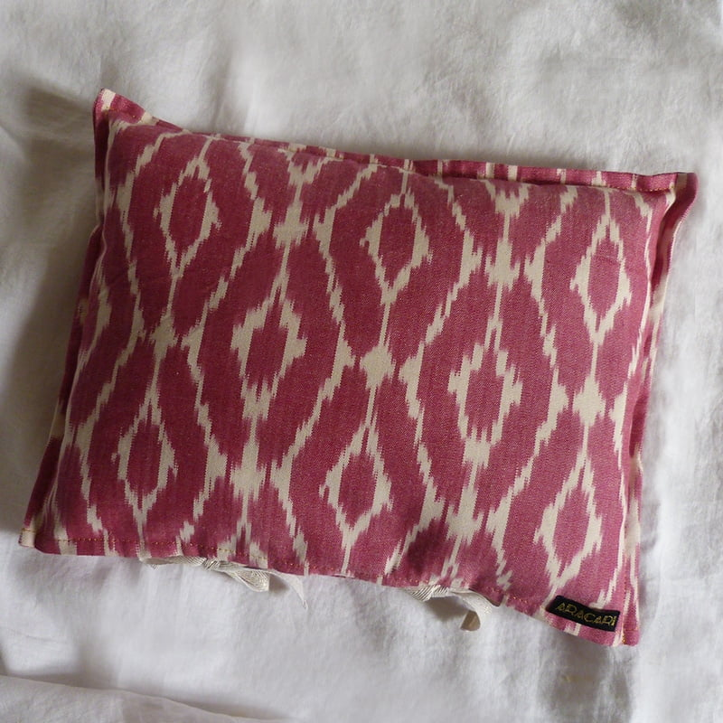 Coussin Ikat rose 5