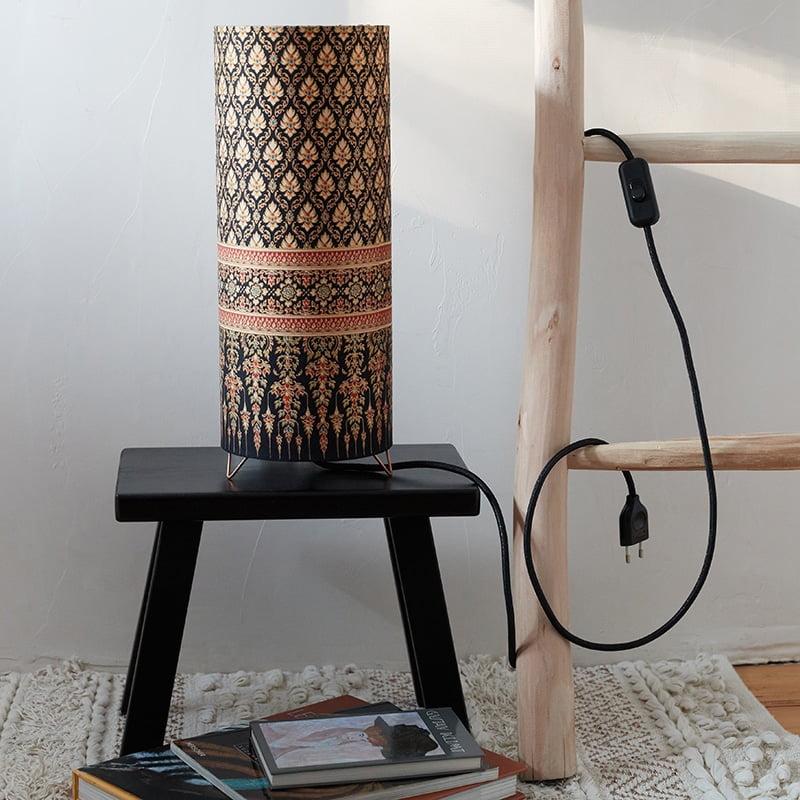 Lampe Tube Indo Noir